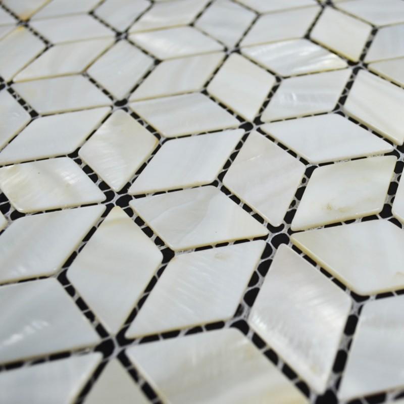 3d Pyramid Wallpaper Tst Mother Of Pearl Tiles 3d Cube White Diamond Mesh