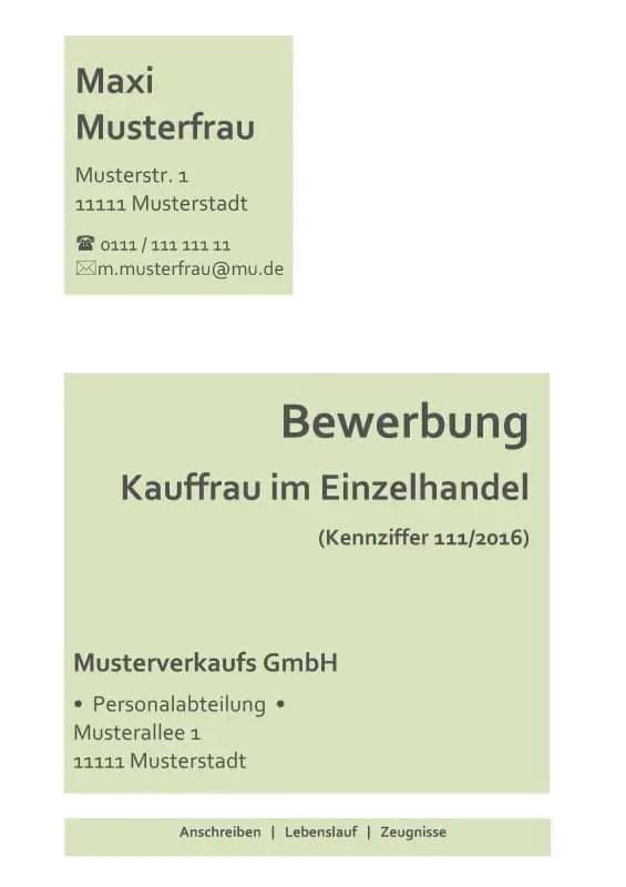 Deckblatt Bewerbung Ohne Foto - Muster Zum Kostenlosen Download!