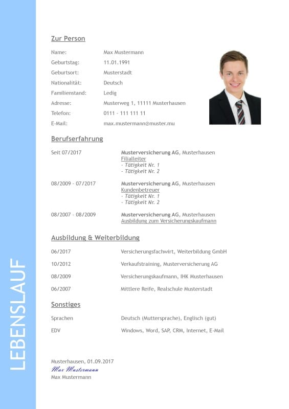 Applying in Germany - Bewerbung Anschreiben  Lebenslauf - how to apply resume for job