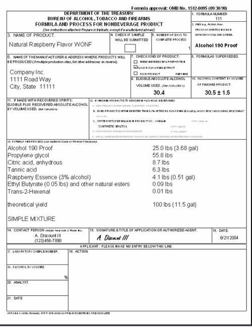 TTB TAD Common Compliance and Tax Issues surrounding Distilled - sample of bill of lading form