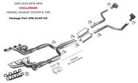 LX-platform, Late-model headers  exhaust