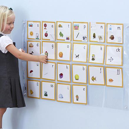 Buy Phonics Pocket Wall Chart TTS - phonics alphabet chart