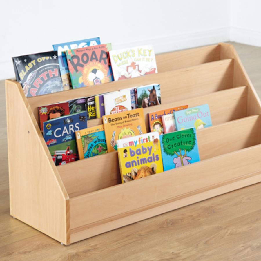 Buy Classic Beech Four Level Book Storage Unit Tts