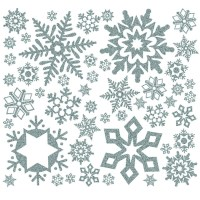 Buy Glitter Snowflakes Winter Wall Sticker Decoration
