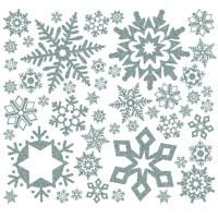 Buy Glitter Snowflakes Winter Wall Sticker Decoration | TTS