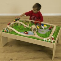 Buy Small World Wooden Train Set and Table | TTS