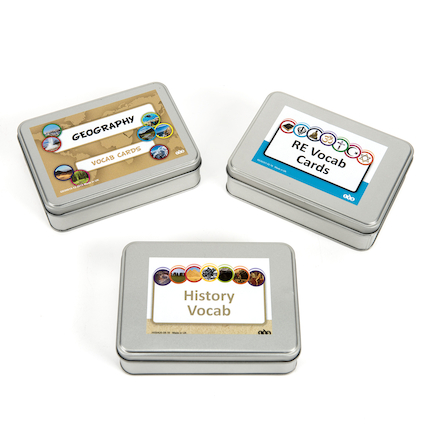 Buy Humanities Vocab Activity Cards Tin Set TTS International - vocab cards
