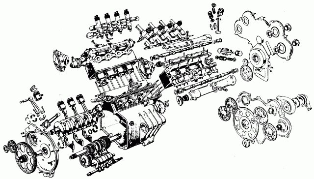 mclaren p1 Schema moteur