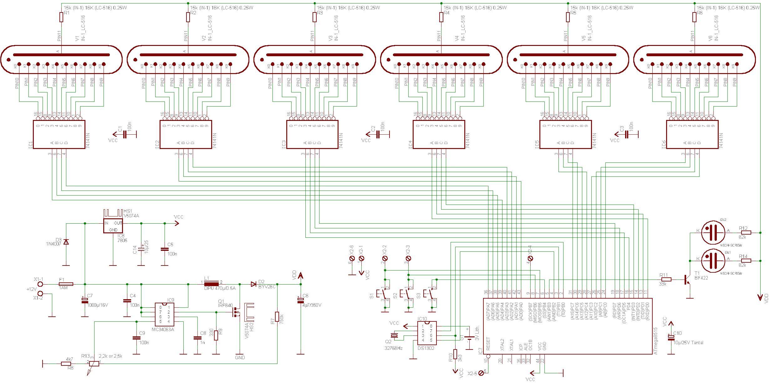 Modular Jack Wiring Diagram Auto Electrical Rj22 Nixie Tube Power Supply Schematic