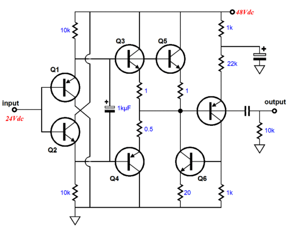 transistor emitter follower buffer