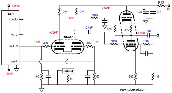 audio dac wiring diagram