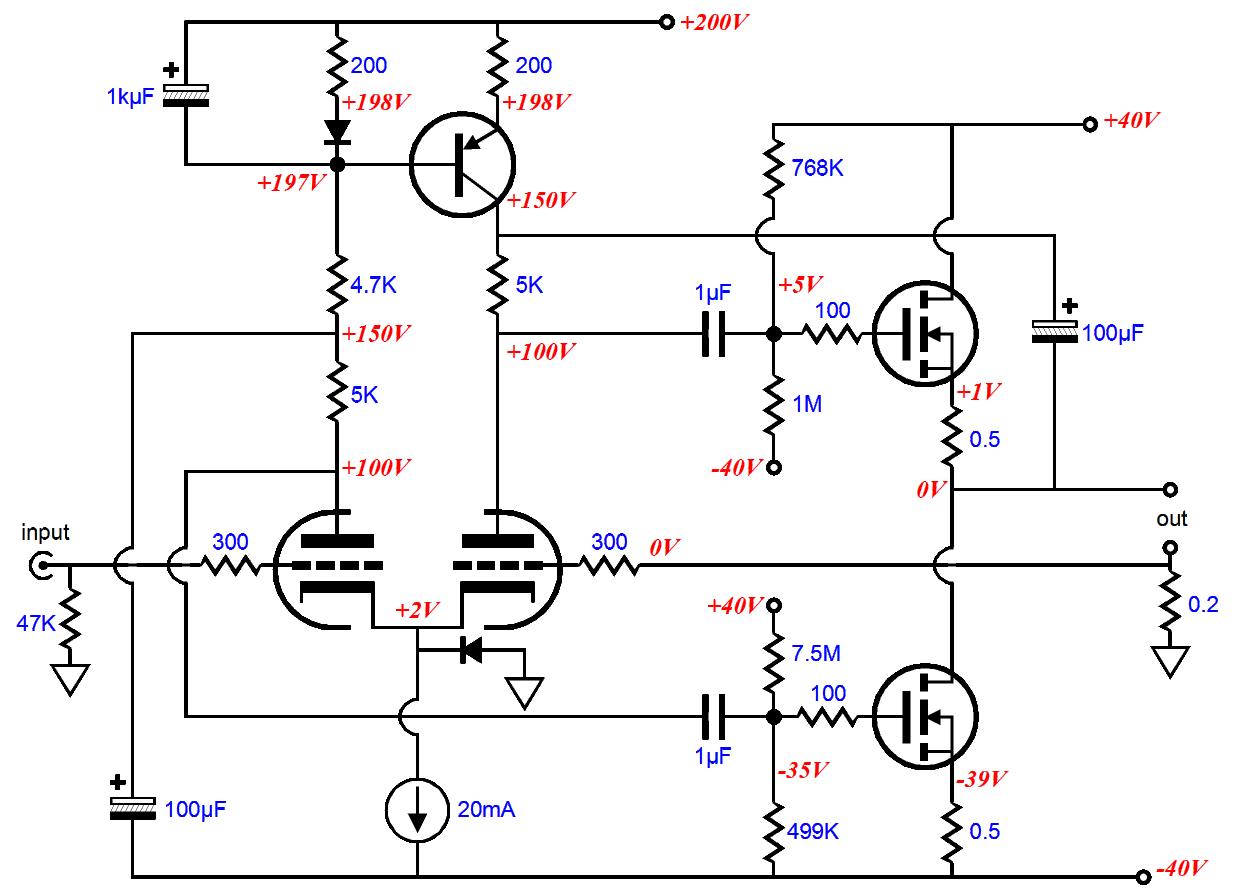 hybrid headphone amplifier circuit