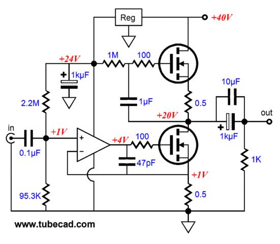 opamp based power amp