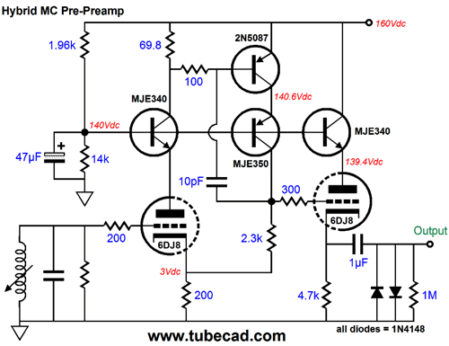 low voltage preamplifier