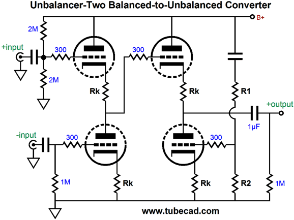 unbalanced to balanced line converter