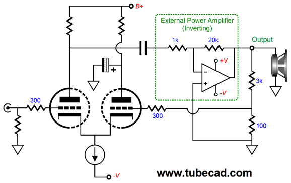 amplifier a s output drives the inverting input of amplifier