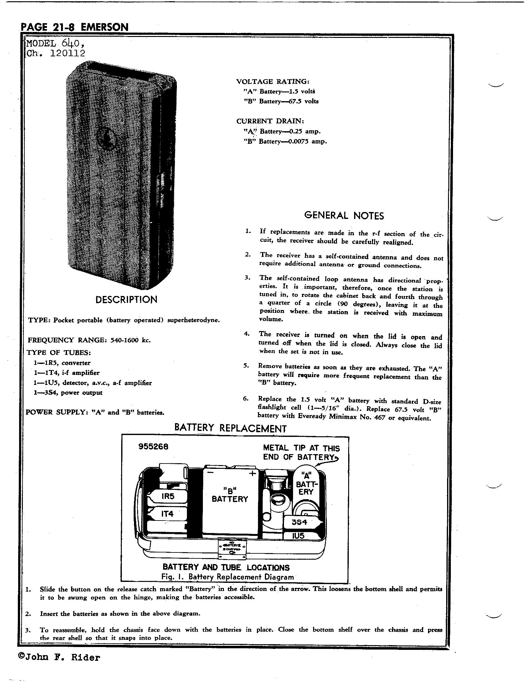emerson radio schematics
