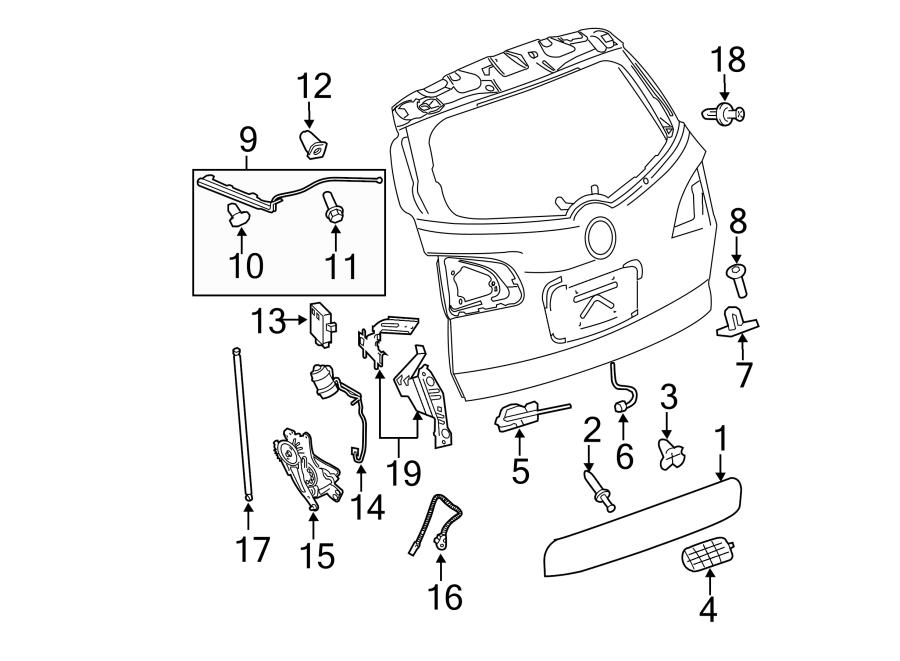 chevrolet tahoe control module liftgate control module module part