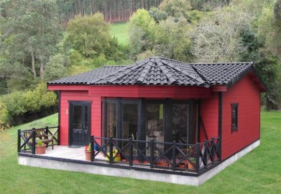Casas y casetas de madera baratas desde for Casetas prefabricadas jardin