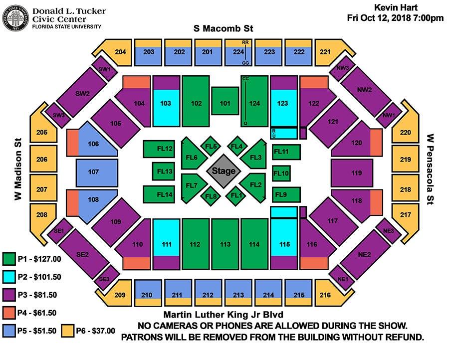 Seating Charts Donald L Tucker Civic Center