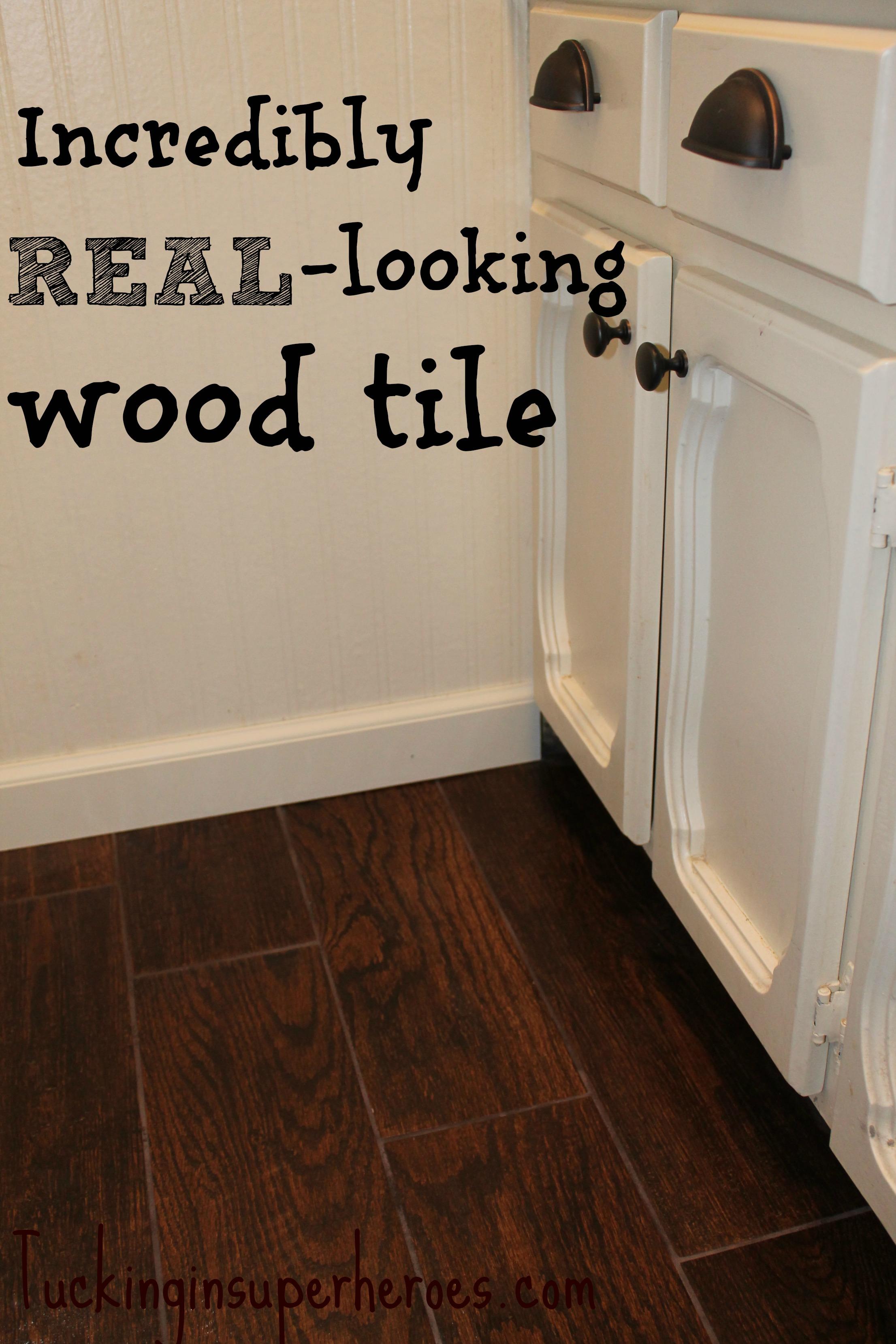 Wood Tile Tucking In Superheroes