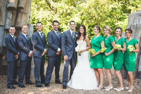 green and charcoal wedding colors