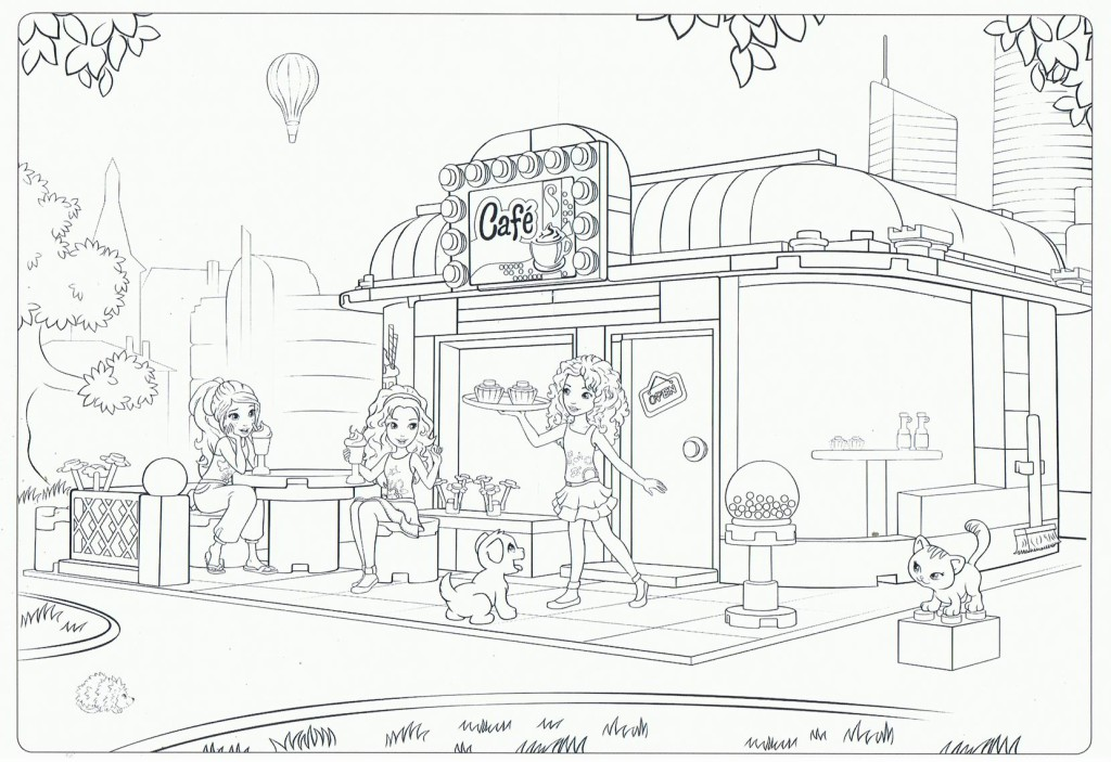 desenho de andrea de lego friends para colorir