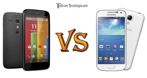 Moto G vs Galaxy S4 Mini Duos