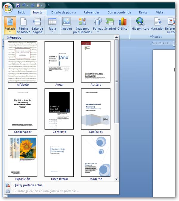 Cómo hacer una portada de diseño con Word 2007 - tuexperto