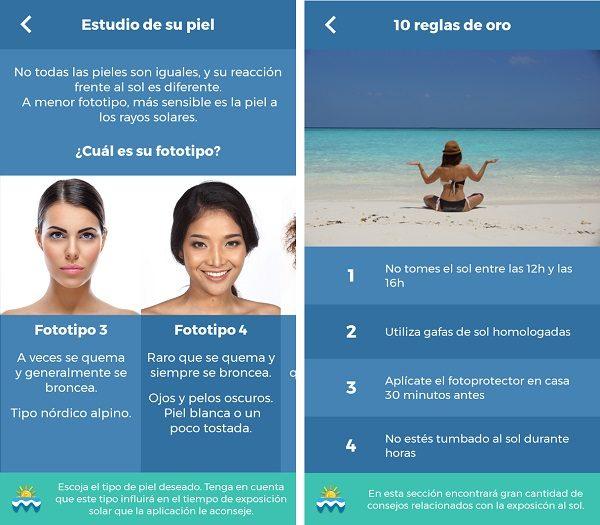 uv-derma aplicaciones para la playa