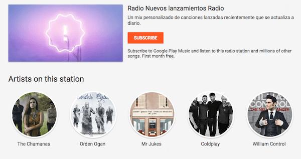 google play música radio