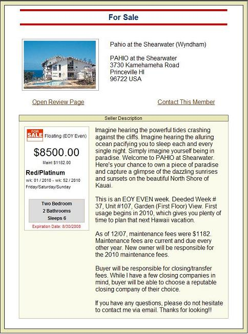 Free Timeshare Classified Ads - Sell , Rent or Exchange your