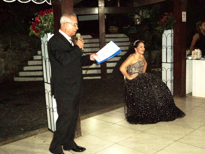 Um dos momentos da apresentação do cerimonial com Túlio de Pinho. Foto de Djane Braga.