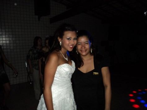 Fotos do casal de noivos com Túlio de Pinho e com a cerimonialista Djane Braga