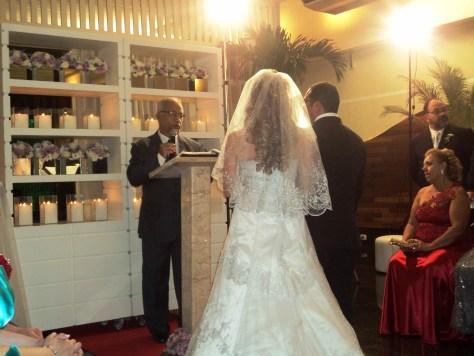 Os noivos Viviane e Marco