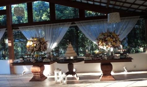 foto da decoração e mesa de bolo casamento Cristiano e Priscilla 21.2.14