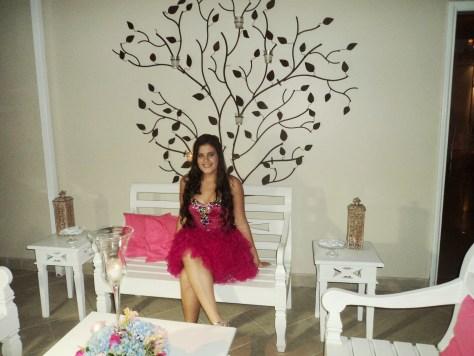 Na foto, a linda debutante Lorena.