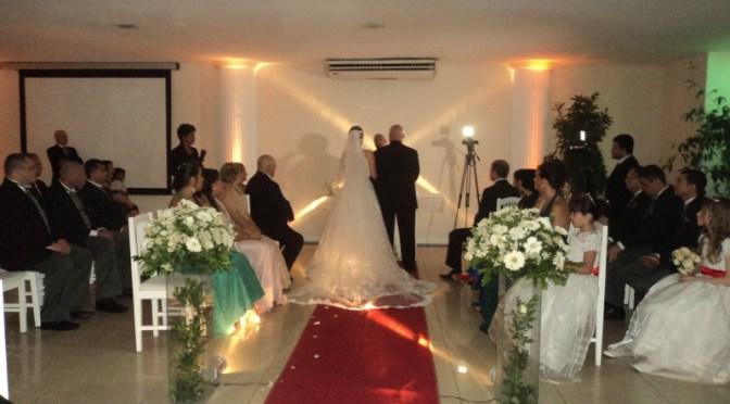 Cerimônia de casamento ecumênica com civil na Casa de festas La Festivita,RJ