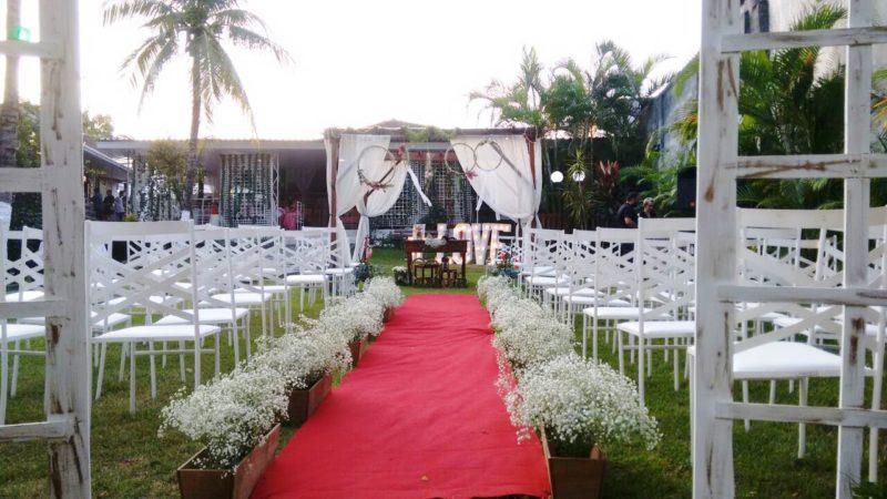 Cerimônia ecumênica de casamento com efeito civil em Kaza Rodrigues Caldas-RJ.