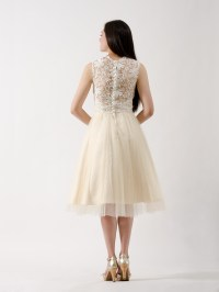 Lace bridesmaid dress champagne
