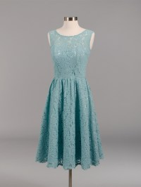 Lace bridesmaid dress teal BM007-Teal