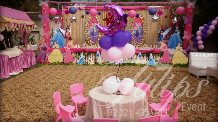 Tulips event - best disney pricess themed birthday party planner