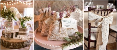 45 Chic Rustic Burlap & Lace Wedding Ideas and Inspiration ...