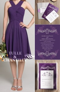 purple bridesmaid dresses | Tulle & Chantilly Wedding Blog