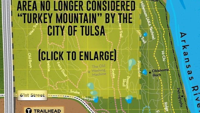 City of Tulsa updates Turkey Mountain Maps.