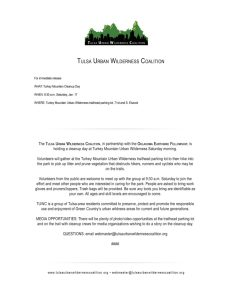 TUWC Hosts Cleanup day Jan 17, 2015