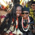Chinedu 'AKI' Ikedieze with Wife Nneoma Nwaijah at their traditional wedding