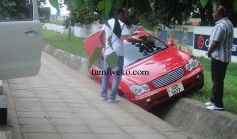 The car that was involed in the accident