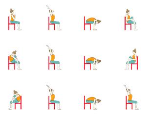 graphic regarding Printable Chair Yoga Poses Pdf named What Is Chair Yoga - Principlesofafreesociety