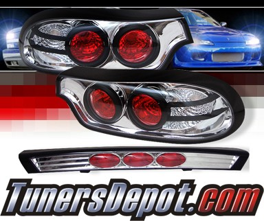 Sonar® LED Tail Lights - 93-98 Mazda RX7 RX-7 ALT-YD-MRX793-LED-C